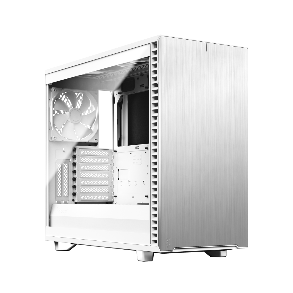Fractal Design Define 7 Clear White Tempered Glass Mid Tower Cabinet image 1