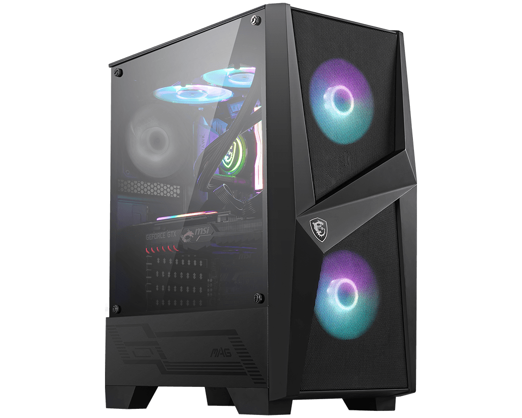 MSI Mag FORGE 100R RGB Tempered Glass Mid Tower Cabinet